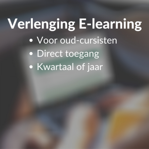 Verlenging E-learning